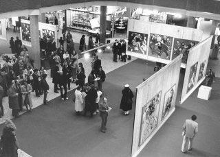 1981. Vernissage de l'exposition «Discovirus» dans les grands magasins de Glatt, près de Zurich