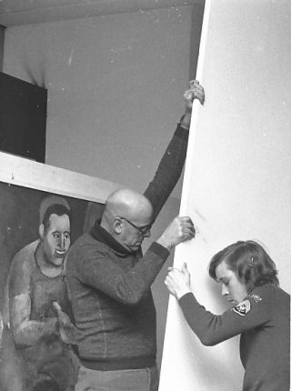 1974. Preparations for the exhibition at the Maschinenfabrik in Rüti in canton Zurich